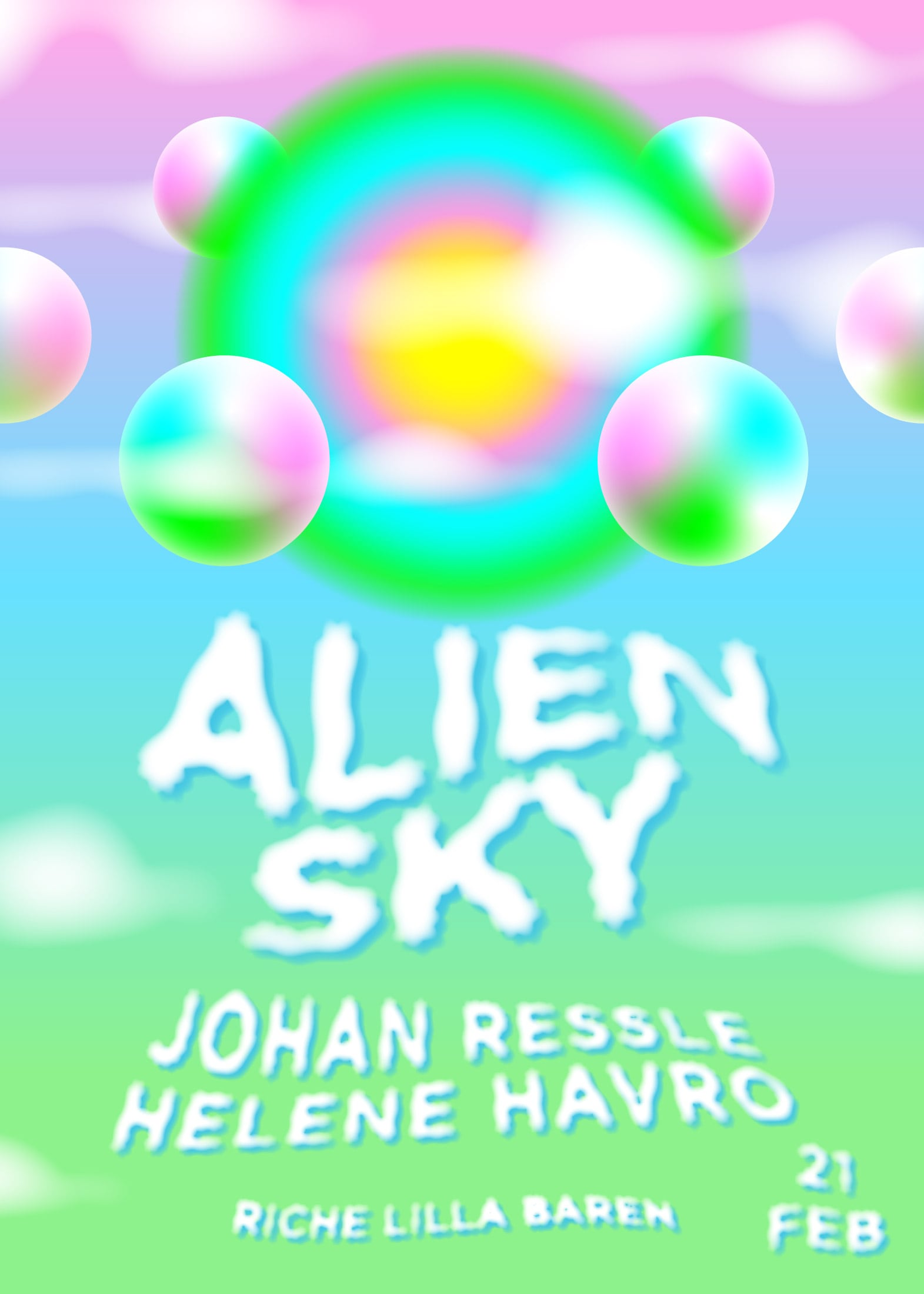 Behind the Amusement Park – Alien Sky February poster