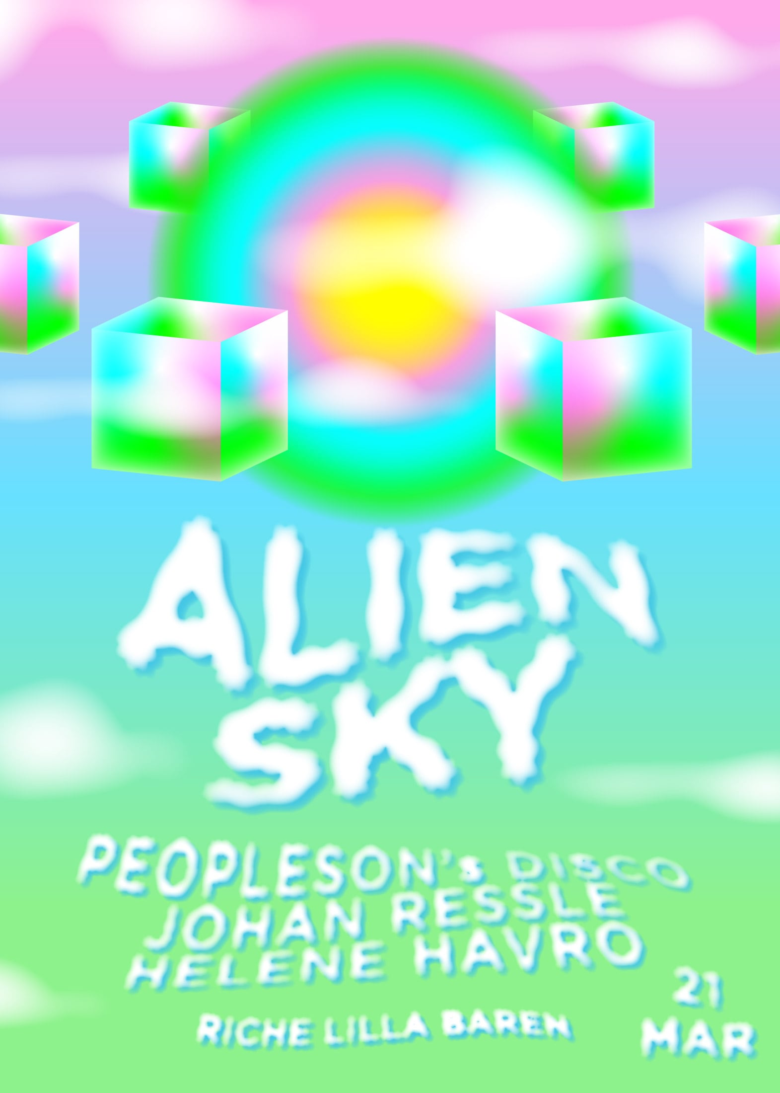 Behind the Amusement Park – Alien Sky March poster