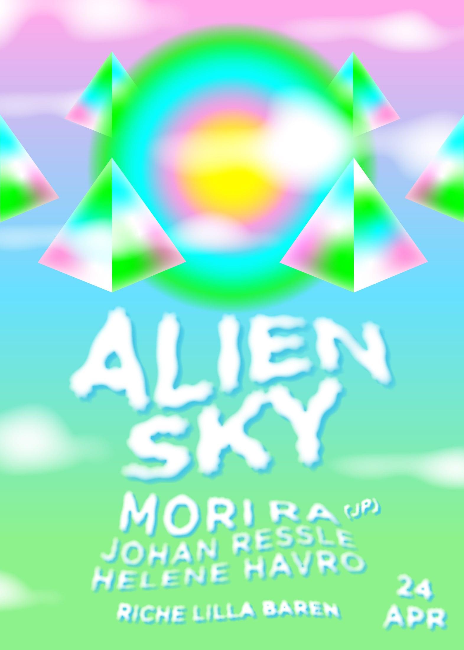 Behind the Amusement Park – Alien Sky April poster