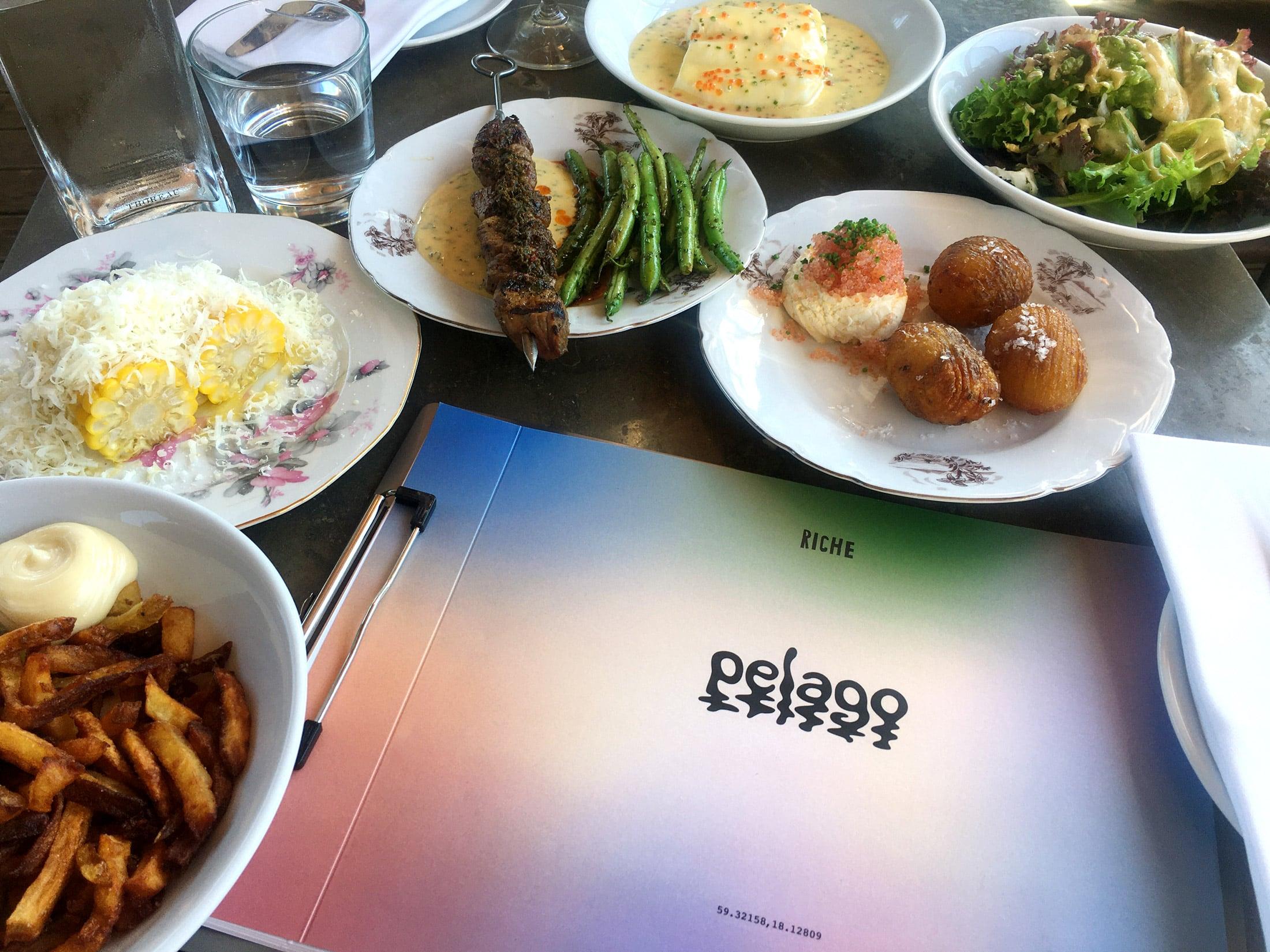 Behind the Amusement Park – Pelago menu