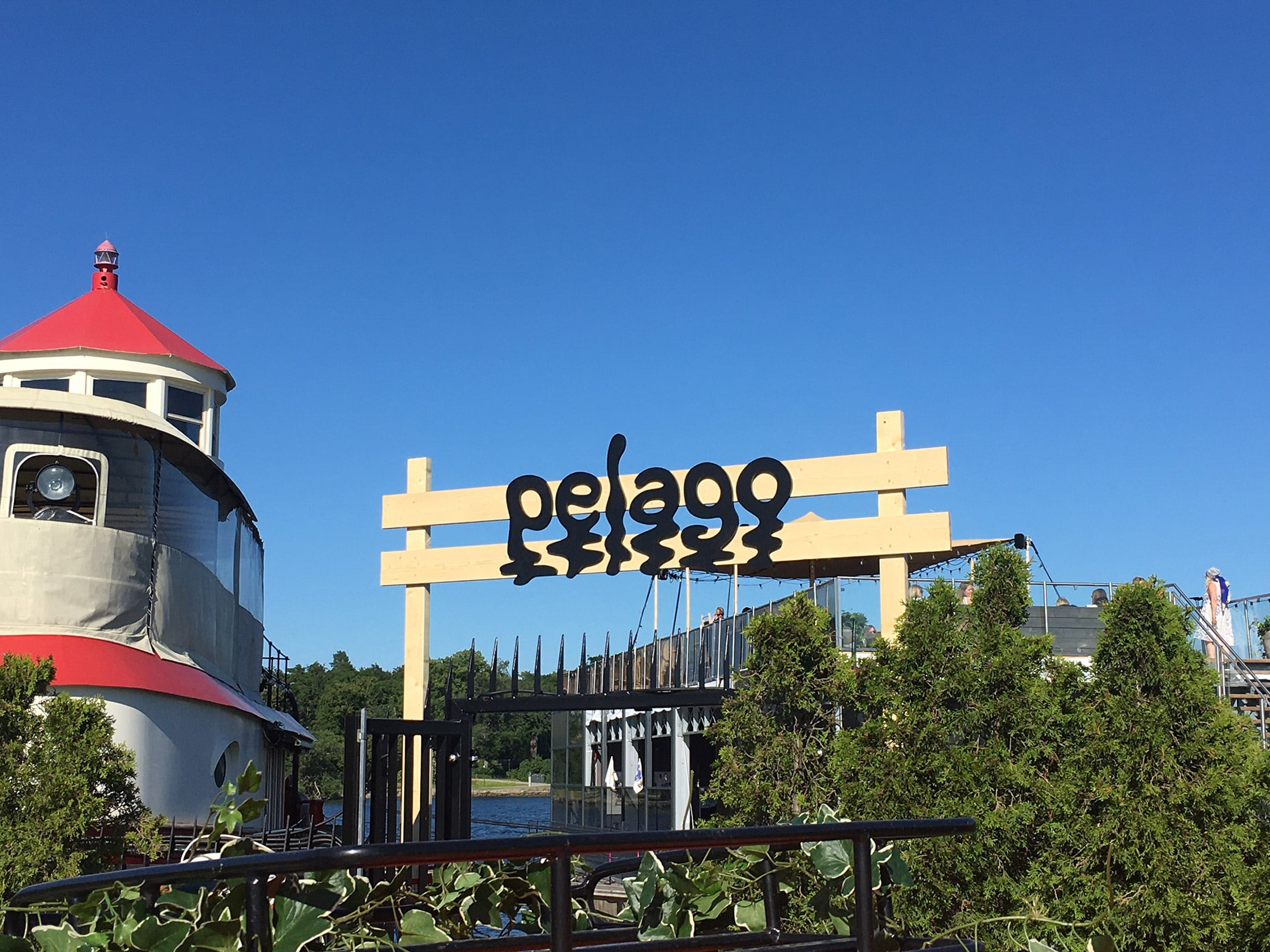 Behind the Amusement Park – Pelago signage